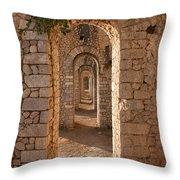 Temple Of Jupiter Anxur Throw Pillow by Yair Karelic