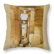 Temple Of Karnak  2 Throw Pillow