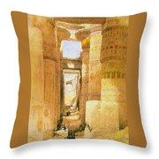 Temple Of Karnak  Throw Pillow
