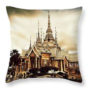 Temple Of Non Goom Throw Pillow