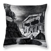 Temple Of Perseus Throw Pillow