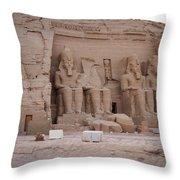 Temple Of Rameses II Throw Pillow