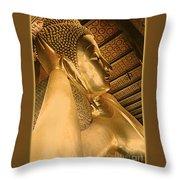 Temple Of Reclining Buddha  Throw Pillow