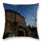 Temple Of Romulus Throw Pillow
