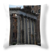Temple Of Saturn Throw Pillow
