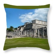 Temple Of The Warriors Throw Pillow