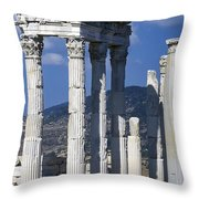 Temple Of Trajan View 1 Throw Pillow