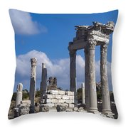 Temple Of Trajan View  Throw Pillow