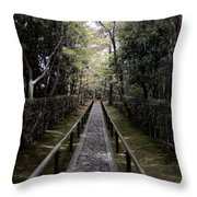 Temple Path - Kyoto Japan Throw Pillow