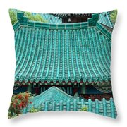 Temple Roofs Throw Pillow