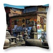 Temple Shop Throw Pillow