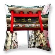 Temple Street 1 Throw Pillow