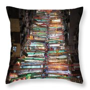 Temple Street Market In Hong Kong Throw Pillow