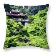 Temple Tam Coc Ninh Binh  Throw Pillow