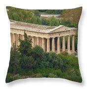 Temple To Zeus Throw Pillow