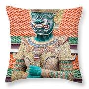Temple Warrior Throw Pillow