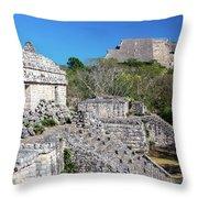 Temples In Ek Balam Throw Pillow