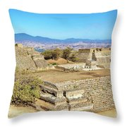 Temples In Monte Alban Throw Pillow