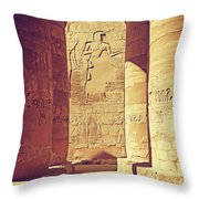 Temples Of Karnak  Throw Pillow