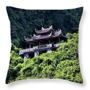Temples Of Tam Coc Vietnam  Throw Pillow