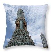 Temples, Thailand Throw Pillow