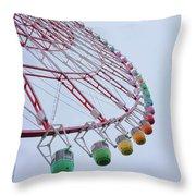 Tempozan Ferris Wheel Throw Pillow