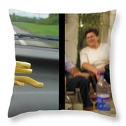 Temptation 2 Throw Pillow by James W Johnson