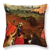 Temptation Of Saint Anthony, Right Wing Throw Pillow