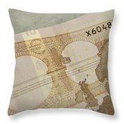 Ten Euro Note Throw Pillow