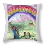Ten Of Cups Illustrated Throw Pillow
