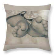 Ten Tip Toes Throw Pillow