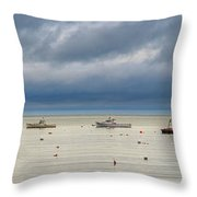Tenants Harbor Throw Pillow