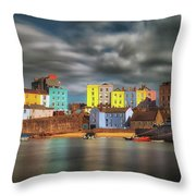 Tenby Harbour Pembrokeshire Throw Pillow