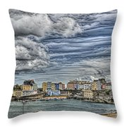 Tenby Harbour Texture Effect Throw Pillow
