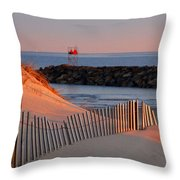 Tender Beach Light Throw Pillow