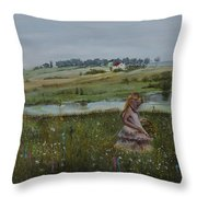Tender Blossom - Lmj Throw Pillow