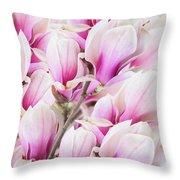 Tender Magnolia Flowers Throw Pillow