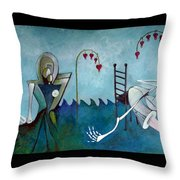 Tending Throw Pillow by Delight Worthyn