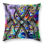 Tendril Tango Throw Pillow