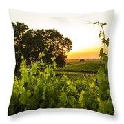 Tendrils Kissing Sun Throw Pillow