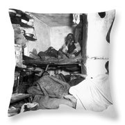 Tenement Life, Nyc, C1889 Throw Pillow