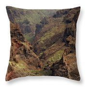 Tenerife Coastline Throw Pillow