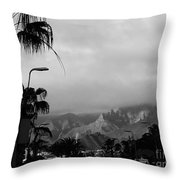 Tenerife Mountains Throw Pillow