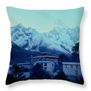 Tengboche Monastery Throw Pillow