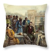 Tenn: Freedmens Bureau Throw Pillow