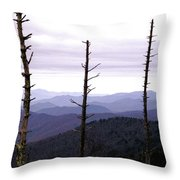 Tennessee Mountains Throw Pillow