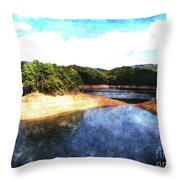 Tennessee Reservoir Throw Pillow