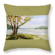 Tennessee River In The Fall Throw Pillow