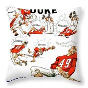 Tennessee Versus Duke 1955 Football Program Throw Pillow