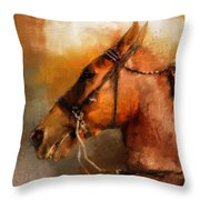 Tennessee Walker In August Throw Pillow